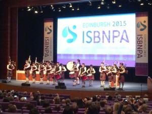 ISBNPA 2015, Edinburgh - opening ceremony (with bagpipes!)