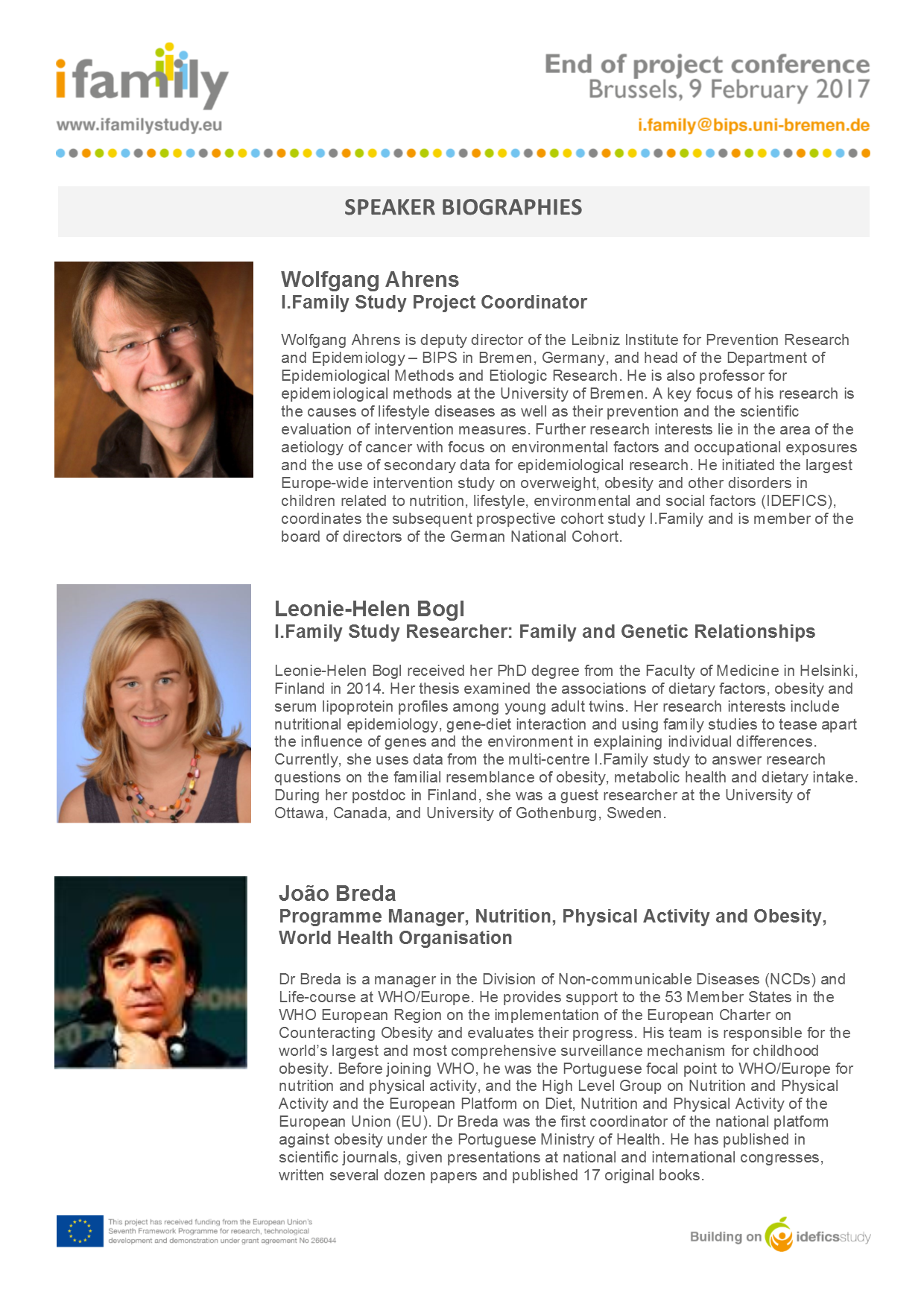 how to write a conference speaker biographies